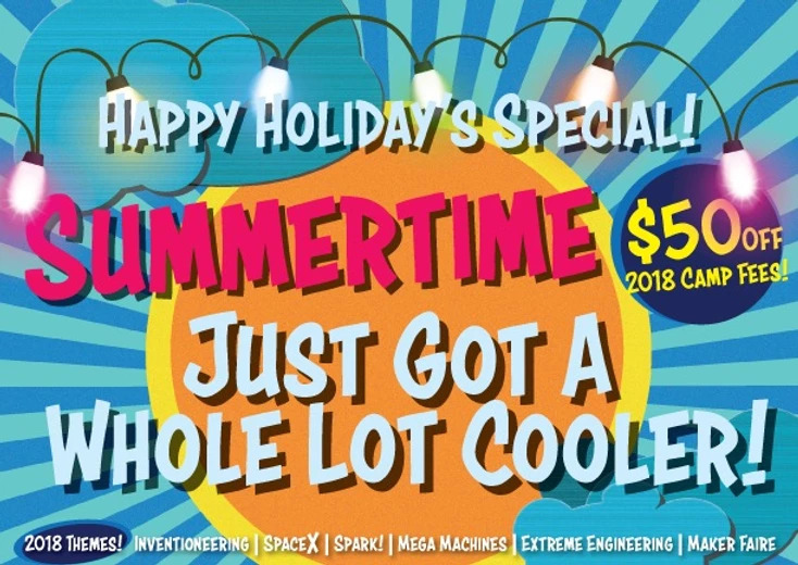 Happy Holidays! $50 Off Camp Registration!